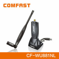 Ralink RT3070 chipset wireless usb adapter with 5dbi antenna and usb extension base COMFAST CF-WU881NL