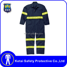 Custom poly/cotton breathable canvas plus size reflective work clothing