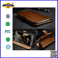 For Moto E Luxury Genuine Real Wallet flip Leather Case,Real leather case --Laudtec