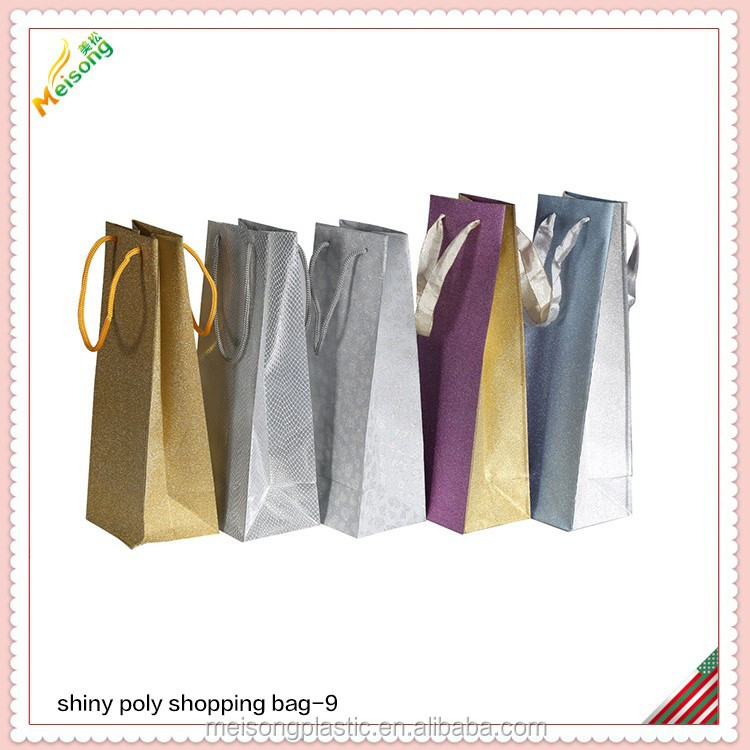 gift glitter film wine bag