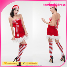 Wholesale Hot Sweet Lady Christmas Santarina Costume
