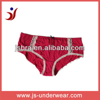 Hot red ladies polyester fancy full panty