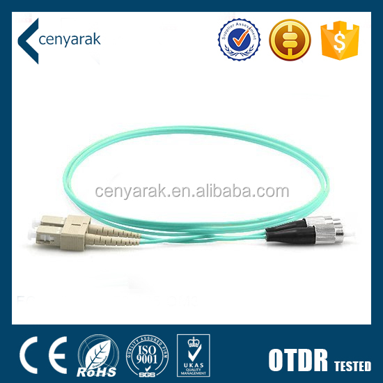 High Performance LSZH SC To FC Om3 Patch Cord In Fiber Optic