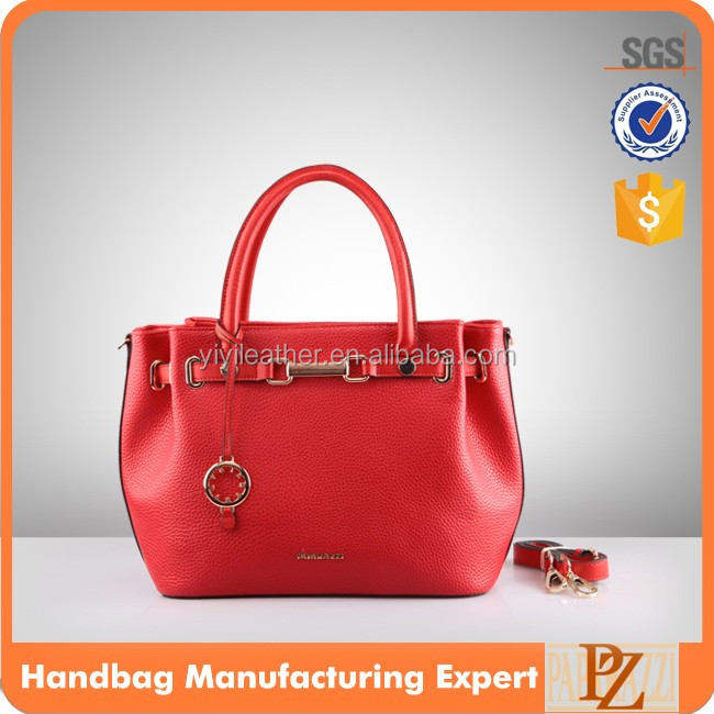 4853 Hot sale ladys hand bags red ,genuine leather handbags 2016