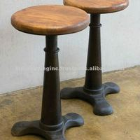 Industrial Furniture Metal Singer Stool With