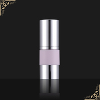0.23cc shining aluminium cosmetic airless bottle