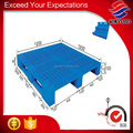 Blue single face 3 legs open deck HDPE euro plastic pallet