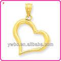 Beauitiful polished heart shape 18k gold plated charms for women