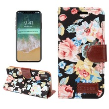 For Apple iPhone X 8 7 6 6S Plus 5 5S SE Case Cover Flower Cloth Leather, Wallet Flip Case for iPhone X 8 7 6 6S plus