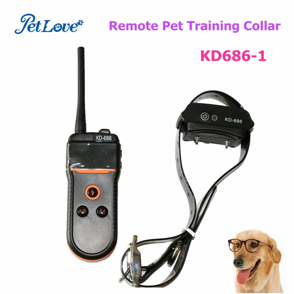 Waterproof Rechargeable Remote Pet Training Collar with LCD Display KD686