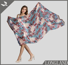 Ladies large size viscose scarf, ponchos and capes, flowers and polka dots scarf prints for SS17 trending seasons