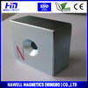 permanent sintered NdFeB magnet with coutersunk hole magnetic seperator