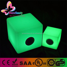new arrival modern led cube with bluetooth speakers,flashing led ice cube with lighting,plastic light cube