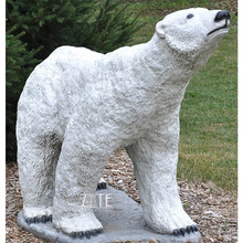 Hot Sale Life Size fiberglass white polar bear statue