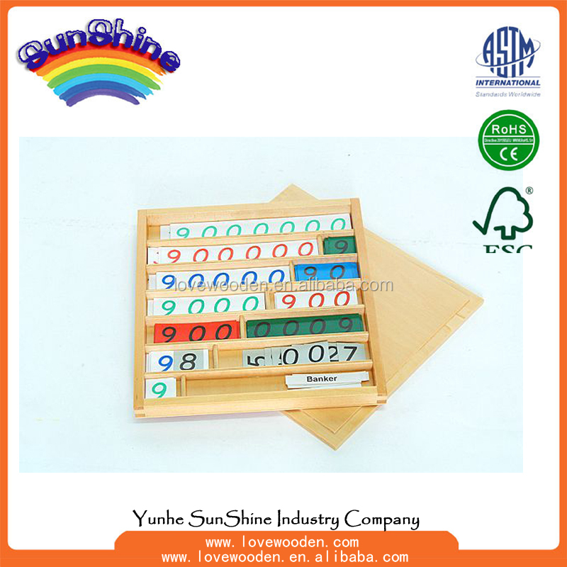 Wooden Educational Montessori Toys,Bank <strong>Game</strong> , montessori mathematics