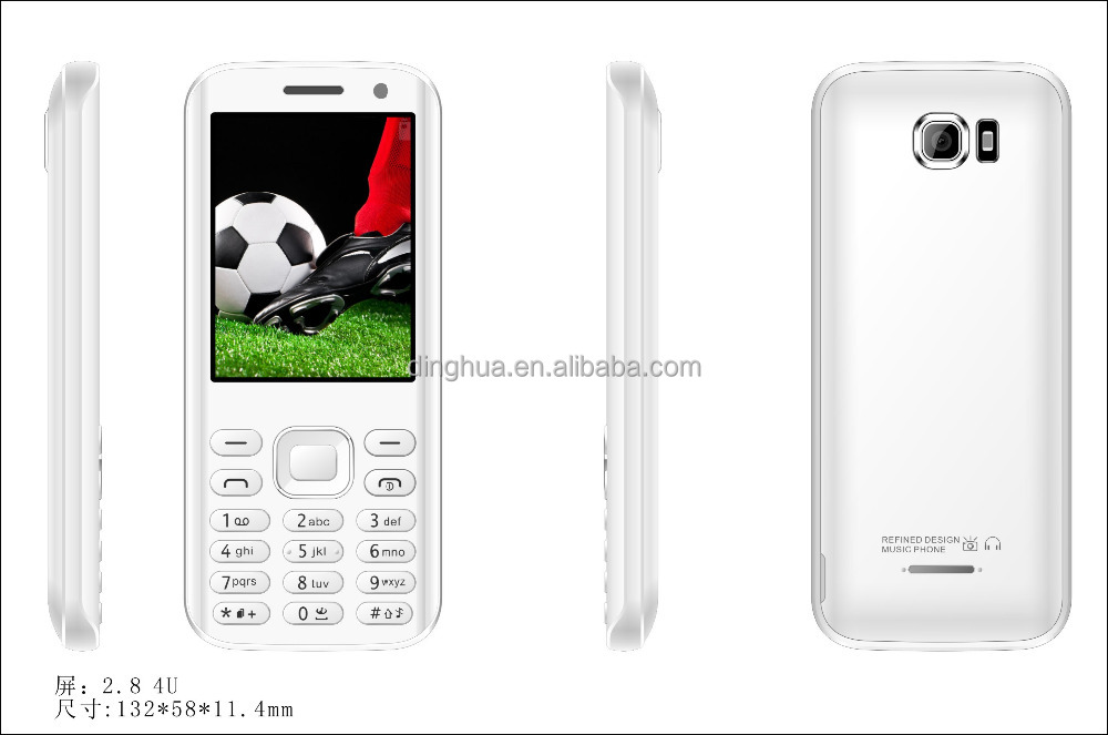 2.8 inch <strong>GSM</strong> 850/900/1800/1900MHz feature mobile phone 1000MAH feature phone