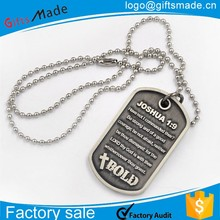 stainless steel dog id tag printer,blank metal military dog tag