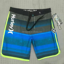 Free Shipping mens 4 way stretch fabric top quality surf board shorts
