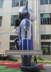 Inflatable giant advertising bear man model for promotion