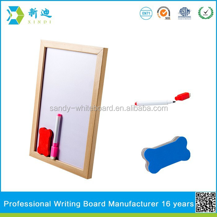 Lanxi xindi wood frame dry wipe magnetic whiteboard for kids
