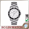 luxury chronograph stainless steel watches men custom logo
