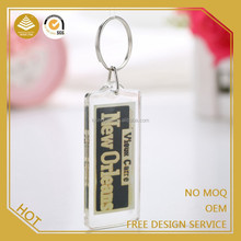 Hottest product 2015 custom made round clear acrylic keychain making supplies