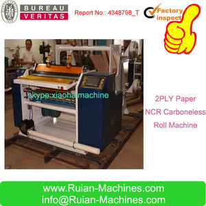 Dual Axis ATM Receipt Paper Slitting Machine/Thermal Paper Roll Slitter Rewinder