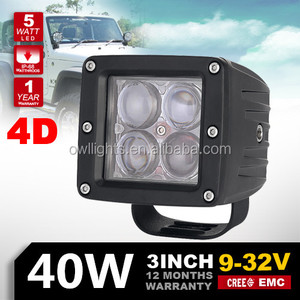 2016 New chinese utv parts trailer lights 3inch 40w 4D Reflector 4x4 Offroad LED Spotlight motorcycle led driving lights