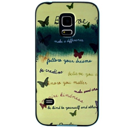 Plastic Frame TPU Back Cover Protective Case for Samsung Galaxy S5 mini