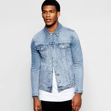 light blue denim men classic fashion jean jacket wholesale