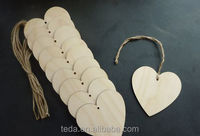 Wooden hanging christmas decoration ornaments Heart style