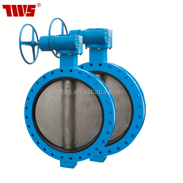 CF8/CF8M Stainless Disc Double flanged U section butterfly valve