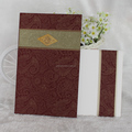 Paisley Flowers Hot Selling Wholesales Fashionable Indian Wedding Invitation Card
