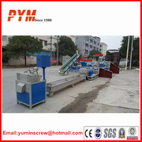 Plastic recycling machine for waste PE film