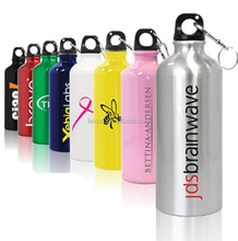Logo design OEM color portable sports cold water kept aluminum bottle