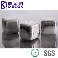 Stainless Steel Whiskey Stones Reusable Ice Cubes Chilling Stones