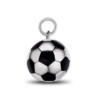 stainless steel football pendant custom pendant