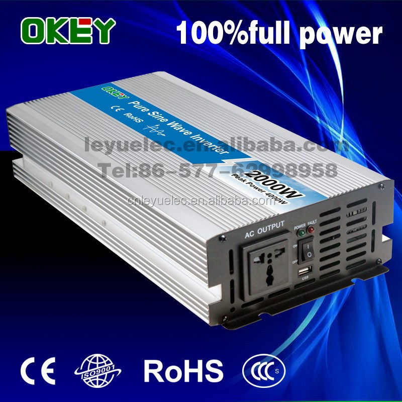 OPIP-2000 High efficiency DC/AC pure sine power inverter 2000W 12VDC to 220VAC
