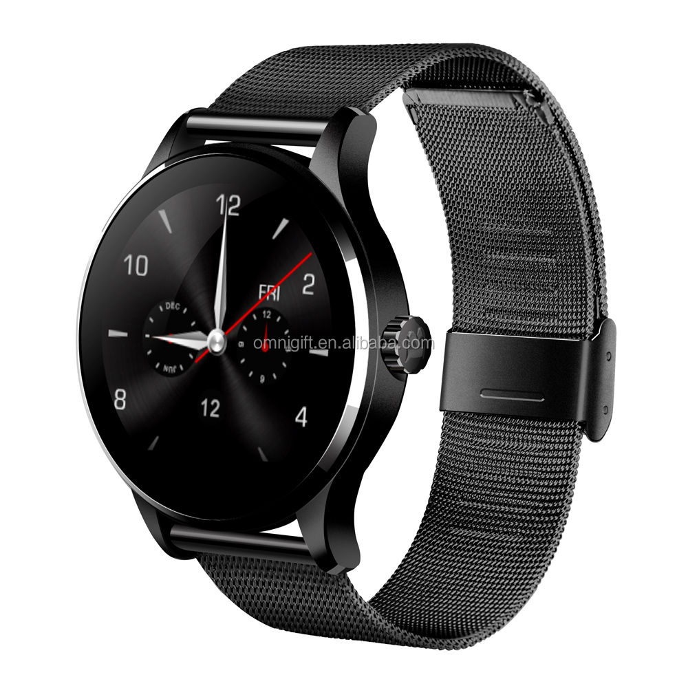 pebble apps k88h from Shenzhen 1.22 Inch IPS Round Screen Support Sport Heart Rate Monitor Bluetooth watch android For IOS