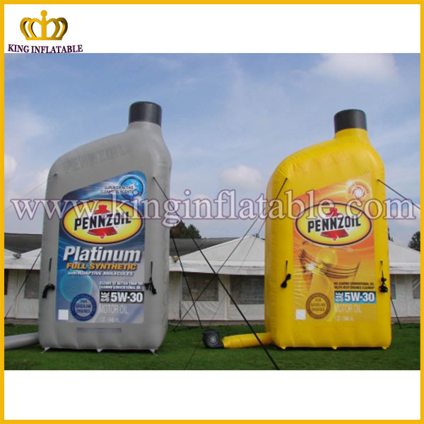 PENNZOIL Hot Sale Advertising Replica Inflatable Engine Oil Bottle, Inflatable Lubricating Oil Bottle