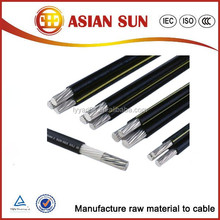 2017overhead line price list of aerial bundled cable ABC manufacturer