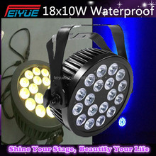Waterproof LED 18x10W par Light,18*10W RGBW LED Par Light, IP65 Outdoor LED Par Can Stage Lighting Show