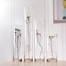 Tall Clear Desktop Acrylic Plastic Cylinder Vases
