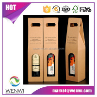 Factory direct portable single bottle cardboard paper wine gift box