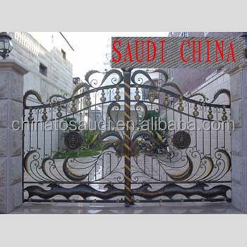 home garden fence security main iron gate models grill design