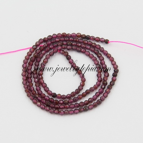 SP1963 Hot Natural 2mm 3mm Garnet Faceted Beads Low Price For Sale