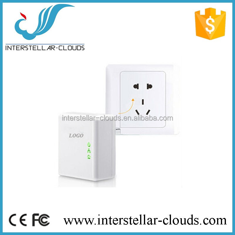 Reliable home plug 500Mbps wallmount powerline network adapter EuP support Data transmission rate up to 500Mbps wifi adapter