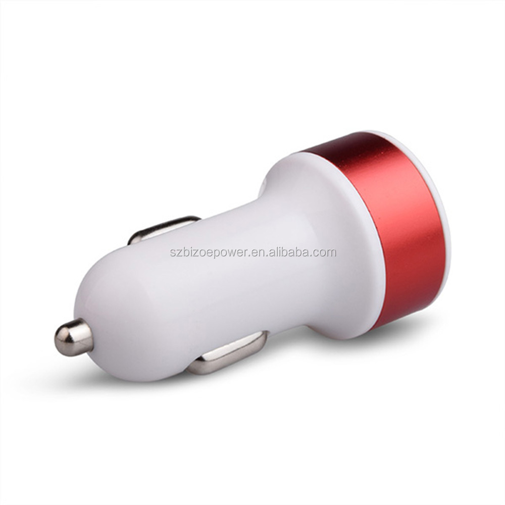 Phone Accessories Quick Charging 2.1A intelligent distribution USB Car Charger For iphone 7
