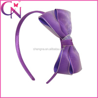 Organza And Stain Ribbon Two Layers Bow With Covered Band Girl Baby Hair Band (CNHB-14062838)