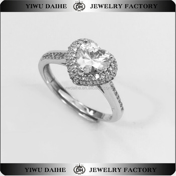 Wedding engagement gift for Diamond 925 Sterling Silver Ring Jewelry Smart Opening Ring
